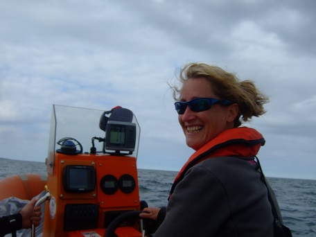 Alison as top cover on the RIB